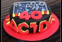 Tarta - ACDC / Tarta ACDC para celebrar el 40 aniversario