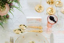 Table Settings / Wedding and Event table decor.