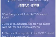 fPOE Document your Day: July 4th / Photography, Mobile Device Photography, Instagram