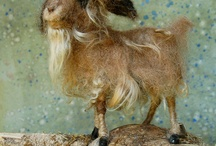 Felted goats