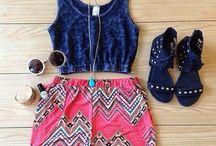 short y blusas sencillas