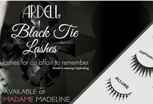 Ardell Black Tie Collection / Make sure to look your best on your night out with these embellished black jewels & stones lashes.   Ardell Black Tie Lashes:  http://goo.gl/jVwEXF