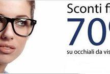 """GLANCE24 / L'OTTICA ONLINE NO1 IN ITALIA CHE OFFRE SCONTI FINO AL 70% SU OCCHIALI DA VISTA COMPLETI DI LENTI PERSONALIZZATE.  """"GARANZIA SODDISFATTI O RIMBORSATI"""""""