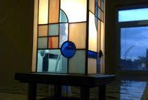 álló tiffany lámpa ólomüveg