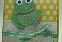 Punch frog card from scraps