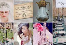 Matrimonio a tema Parigi /Paris wedding theme / Idee per dare un tocco di glamour parigino al vostro matrimonio/ Ideas for a Parisian style wedding