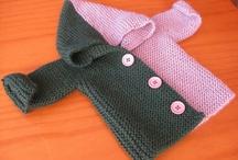 sideways garter stitch knit jacket