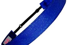 Sparkly Headbands / Non Slip & Adjustable Headbands in sparkly glitter and shimmery solids.