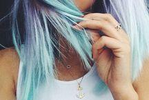 színes hajak