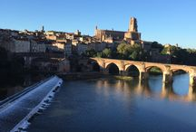 Albi, France / Home of the Toulouse-Lautrec Museum, Albi is a fascinating city highlighted by gothic cathedrals and stately bridges along the Tarn River in France . Barefootblogger.fr