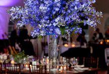 Dekoracje i bukiety ślubne niebieskie