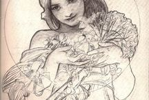 Pencil Studies - Alphonse Maria Mucha
