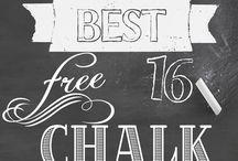 ♥ ♥ ChalkBoard & Images ♥ ♥