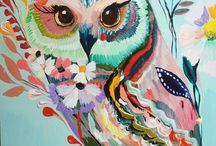 Owl paintings / by Chelsei Brown