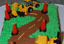 Construction celebration for 2 / Birthday party ideas with a digger theme