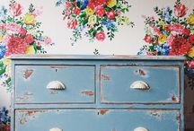 Hand painted Dressers / Up cycled hand painted dressers