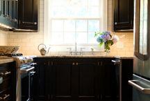Black and cream kitchen