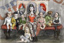 Admiring the illustrations of Joanna Ost