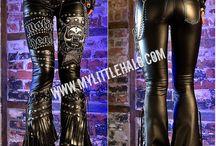 Metal Fashion-Leggings & Pants / Heavy metal fashion & rock clothing including leather pants, studded leggings & trousers