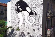 street art & murals BLACK&WHITE