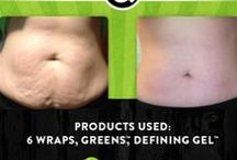 It Works! Before & After  / This is what it does! Have questions? Contact me at (877)970-1414 or visit my website mswrap.myitworks.com / by It Works!