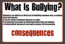 Bullying is a Universal Problem / Not only teenagers get Bullied:  Widespread among people with Disabilities, (congitive, meek and quiet people, physical and emotional disabilities, elderly, sensitive, caring people who help others). It is everywhere,  Bullys can spot an easy target if you are one who avoids conflicts and abids by a Bully's wished and demands. Just walk away.  / by Fairy Godmother