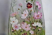 рисунки на стекле