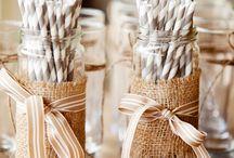 Ideas ECO para decorar fiesta y Eventos / Ideas para decorar fiesta de Primera Comunión, bodas, bautizos, San Valentín, con materiales reciclados y naturales