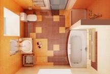 bathroom floor plans / by Devan Wistrom