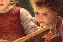 Dzieci czytające