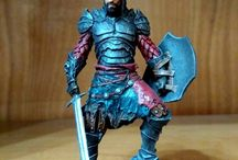 My miniatures / Kainan the damned painted 75mm Black sun miniatures
