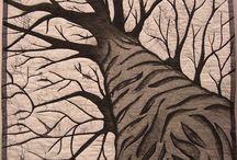 stromy a listí
