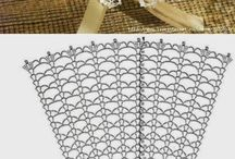 Crochet doily and tableclothes