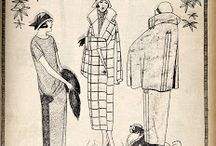 "fashion1920/30 / illistrations from polish fashion magazine ""Bluszcz"""
