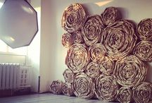 Paper and floral decor