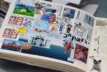 Carnets de voyages / Idées de mise en forme ludique et sympathiques de souvenirs de voyages, vacances,...