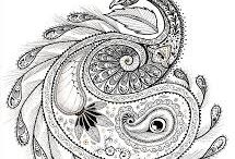 Doodle inspirations / Collection of paisley, Mehndi designs, and other doodle patterns, and the art and artists that inspire new ideas.