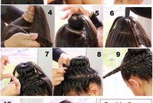 Hair / Beautiful hair, braids, weaves, cute hairstyles ....