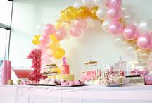 Pink and Gold first Birthday / Boho Chic and all things pink. First birthday hair, decor and cake smash.