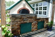 Drystack Stone DIY Made at Home / D-I-Y Drystack veneer, also called Stackstone. Used for home improvement projects made with concrete stone that you can make at home. You're limited only by your  imagination. We have everything needed to enable you to make stone for pennies a square foot available at our www.TheMoldStore.us website.  / by Olde World Stone & Tile Molds, Inc.