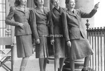 Fashion 1940's / Women fashion in 1940's was about creating a certain silhouette, broad shoulders, tiny waists and full hips.The fashion style through the images of Alinari-