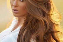 Lange Frisur