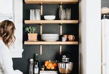 Mueble de cocina en tablones