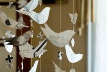 Paper bird mobile / Paper