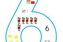 Kleuters cijfersymbolen