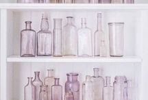 ❥ Antique Glass / Our packaging inspiration. There's nothing like an old glass bottle on a windowsill.