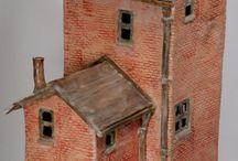 art - little houses