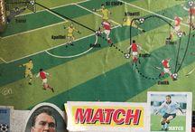 Retro football stickers