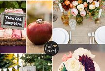 Fall wedding colors / by MaryAnn Urbanik
