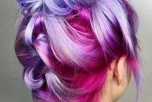 .colorful hair.
